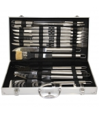 Deluxe 24 Piece Stainless Steel BBQ Set